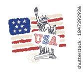 vector design with american... | Shutterstock .eps vector #1847392936