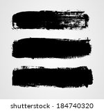 set of three black grunge... | Shutterstock .eps vector #184740320
