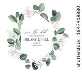 wedding invitation card... | Shutterstock .eps vector #1847418880