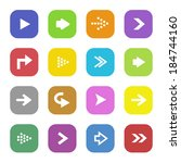 set collection of arrow icons | Shutterstock . vector #184744160