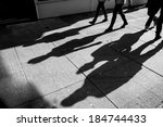 Shadows Of Four Walking...