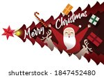 christmas card paper art... | Shutterstock .eps vector #1847452480