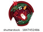 christmas card paper art... | Shutterstock .eps vector #1847452486