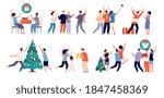 family christmas time. couple... | Shutterstock .eps vector #1847458369