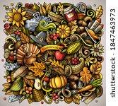 cartoon vector doodles happy... | Shutterstock .eps vector #1847463973