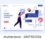 future technology concept...   Shutterstock .eps vector #1847501536