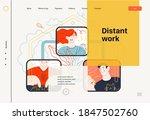 business topics   distant work  ... | Shutterstock .eps vector #1847502760