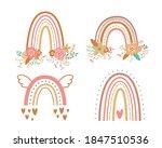 floral rainbow set tribal boho...   Shutterstock .eps vector #1847510536