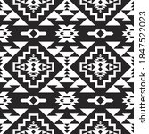 mexican seamless pattern. aztec ... | Shutterstock .eps vector #1847522023