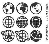 earth vector icons set....   Shutterstock . vector #1847554006