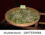 Age 5 Silkworms Larvae Feed On...