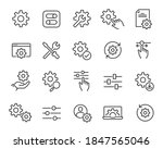 setup and settings icons set....   Shutterstock .eps vector #1847565046