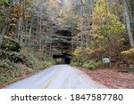 Small photo of Nada Tunnel in the Red River Gorge, Kentucky.