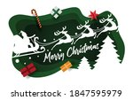 christmas card paper art... | Shutterstock .eps vector #1847595979