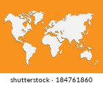 maps of the earth's.vector  | Shutterstock .eps vector #184761860