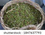 Group Of Green Nut In Brown...