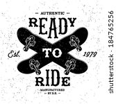 Vintage Label  Ready To Ride  ...