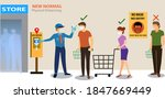 new normal concept and physical ... | Shutterstock .eps vector #1847669449