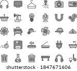 thin line gray tint vector icon ... | Shutterstock .eps vector #1847671606