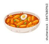 delicious tteokbokki   korean... | Shutterstock .eps vector #1847680963