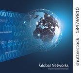 global networks   eps 10 vector ... | Shutterstock .eps vector #184769810
