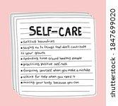 self care tips list on pink  ... | Shutterstock .eps vector #1847699020