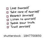 self love tips list   design...   Shutterstock .eps vector #1847700850
