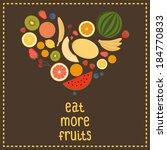 heart from fruit  isolated ... | Shutterstock .eps vector #184770833