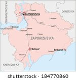 map of zaporizhia region with... | Shutterstock .eps vector #184770860
