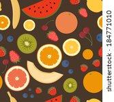 fruits seamless pattern for...   Shutterstock .eps vector #184771010