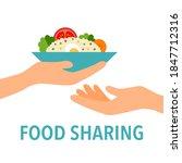 food sharing concept vector... | Shutterstock .eps vector #1847712316