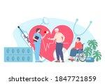 nurse care about elderly... | Shutterstock .eps vector #1847721859
