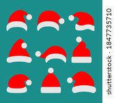 santa claus hat collection ... | Shutterstock .eps vector #1847735710