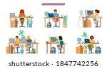 online education for children...   Shutterstock .eps vector #1847742256