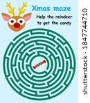 Funny Reindeer Labyrinth Game...