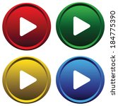 four color buttons on a white... | Shutterstock .eps vector #184775390
