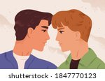 romantic portrait of homosexual ... | Shutterstock .eps vector #1847770123