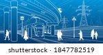 city scene. automobile bridge ...   Shutterstock .eps vector #1847782519
