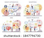 smm and website promotion set.... | Shutterstock .eps vector #1847796730