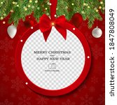 merry christmas and happy new... | Shutterstock .eps vector #1847808049