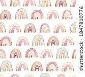 seamless pattern cute rainbow   ...   Shutterstock .eps vector #1847810776
