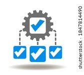 scheme check mark gear icon...   Shutterstock .eps vector #1847814490