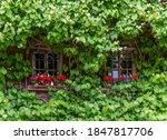 Rural Windows At A House Facade ...