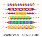colorful friendship band...   Shutterstock .eps vector #1847819080