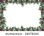 illustration border of holly... | Shutterstock . vector #18478264