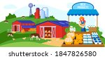 farm dairy agriculture products ...   Shutterstock .eps vector #1847826580