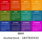 colorful square calendar for... | Shutterstock .eps vector #1847835433