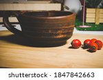 Earthenware Cup Of  Hot Tea And ...