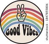 vintage good vibes slogan...   Shutterstock .eps vector #1847855806