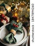 Christmas Table Setting Among...